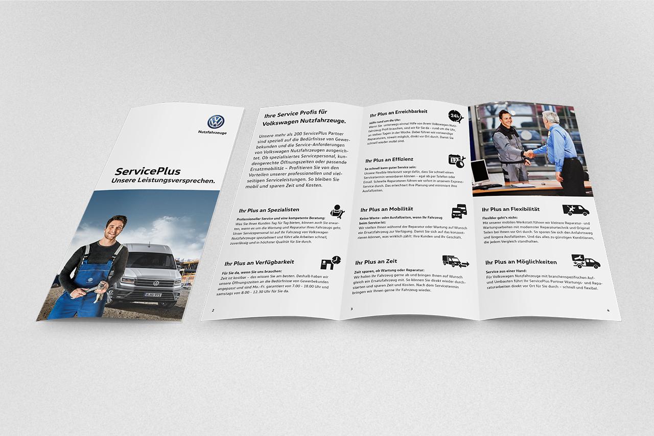 intonic werbeagentur vw nfz kampagne serviceplus flyer