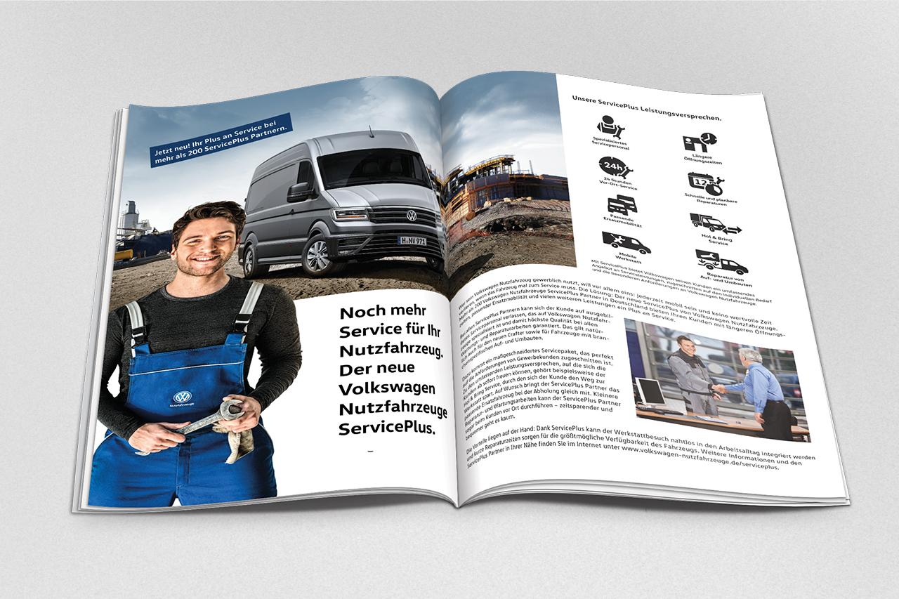 intonic werbeagentur vw nfz kampagne serviceplus advertorial